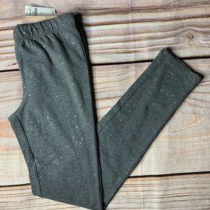 NWT Gap sparkly grey leggings size large (10)